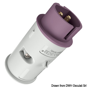 12/24 V socket/plug with screw terminals title=