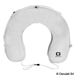 Horseshoe lifebuoy with pull-out cover. 80% thickness title=
