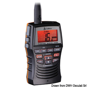COBRA MARINE MR HH150FLTE portable VHF title=