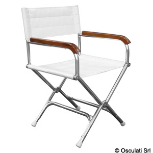 Anodized aluminium Director's folding chair title=