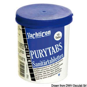 YACHTICON Pury Tabs for toilets title=
