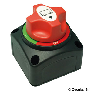 Countertop battery switch with removable key title=