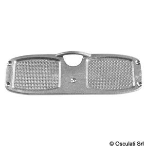 Stern protection plate aluminium 316x100 mm