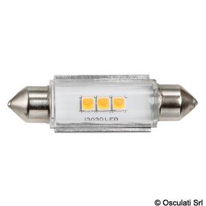 LED bulb white/green