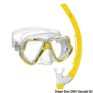 Комплект из маски и дыхательной трубки MARES, модель Zephir title=