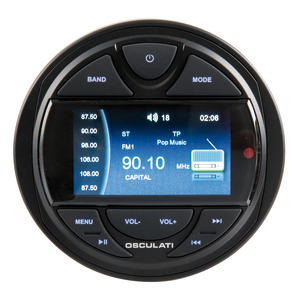 Radio for instrument panel with remote control and DAB antenna title=
