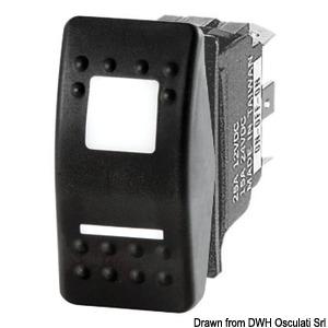 Marina R II dual LED rocker switch, IP56 watertight